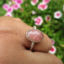 Load image into Gallery viewer, Rhodochrosite Ring - Size 5 1/4 - Sterling Silver - Gem & Tonik