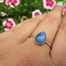 Load image into Gallery viewer, Peruvian Blue Opal Ring Size 8 1/4 - Sterling Silver - Gem & Tonik