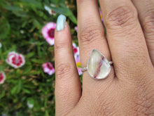 Load image into Gallery viewer, Pear Shaped Fluorite Ring - Size 5 - Sterling Silver - Gem & Tonik