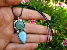 Load image into Gallery viewer, Aquamarine & Larimar Pendant - Gem & Tonik