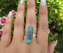 Load image into Gallery viewer, Azurite Ring Size 8 - Sterling Silver - Gem & Tonik