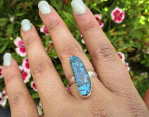 Azurite Ring Size 8 - Sterling Silver - Gem & Tonik