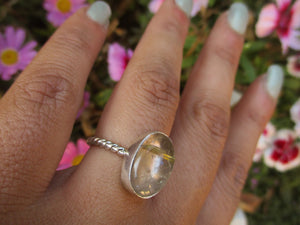 Golden Rutilated Quartz Ring - Size 6 - Gem & Tonik