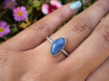 Load image into Gallery viewer, Marquise Peruvian Blue Opal Ring - Size 6 1/2 - Sterling Silver - Gem & Tonik