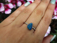 Load image into Gallery viewer, Blue Australian Opal Ring - Size 7 1/4 - Sterling Silver - Gem & Tonik