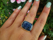 Load image into Gallery viewer, Rectangular Sodalite Ring - Size 9.5 - Sterling Silver - Gem & Tonik