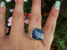 Load image into Gallery viewer, Rectangular Sodalite Ring - Size 9 1/2 - Gem & Tonik