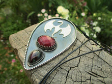 Load image into Gallery viewer, Fáfnir's Lair - Ruby & Ruby Zoisite Dragon Pendant - Gem & Tonik