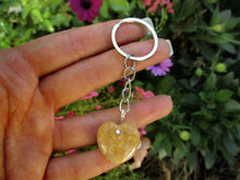Load image into Gallery viewer, Fossilised Coral Heart Keyring - Mixed Metal - Gem & Tonik