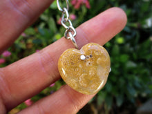 Load image into Gallery viewer, Fossilised Coral Heart Keyring - Gem & Tonik