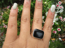 Load image into Gallery viewer, Rectangular Black Onyx Ring - Size 10 - Sterling Silver - Gem & Tonik