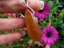 Load image into Gallery viewer, Tangerine Sun Aura Quartz Keyring - Sterling Silver & Stainless Steel - Gem & Tonik
