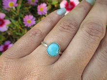 Load image into Gallery viewer, Royston Turquoise Ring - Size 6 - Sterling Silver - Gem & Tonik