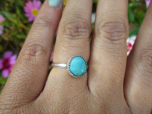 Royston Turquoise Ring - Size 6 - Sterling Silver - Gem & Tonik
