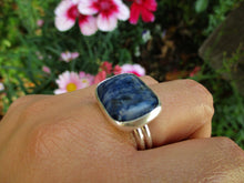 Load image into Gallery viewer, Rectangular Sodalite Ring - Size 9 1/2 - Sterling Silver - Gem & Tonik