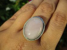 Load image into Gallery viewer, Large Rose Quartz Ring - Size 9 1/4 - Sterling Silver - Gem & Tonik