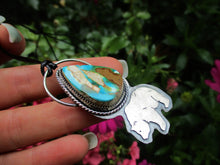 Load image into Gallery viewer, Arcadia - Royston Turquoise Bear Pendant - Gem & Tonik
