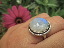 Load image into Gallery viewer, Blue Moonstone Ring - Size 8 1/4 - Sterling Silver - Gem & Tonik