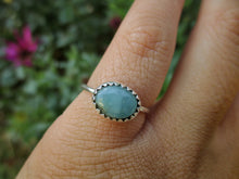Load image into Gallery viewer, Dainty Larimar Stacker - Size 4.5 - Sterling Silver - Gem & Tonik