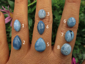 Your Custom Peruvian Blue Opal Ring - Made to Order - Gem & Tonik