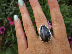 Large Amethyst Ring - Size 7 1/2 - Sterling Silver - Gem & Tonik