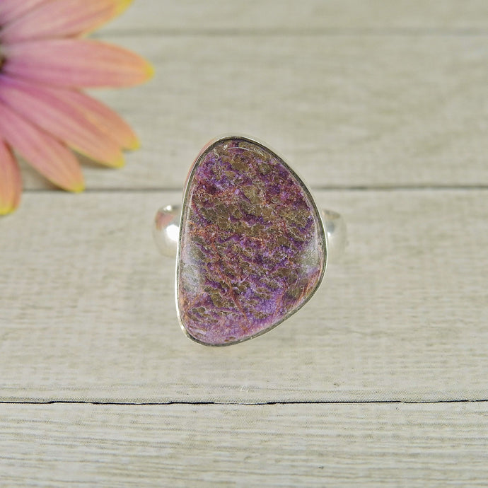 Purpurite Ring - Size 7.5 - Sterling Silver - Gem & Tonik