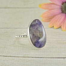 Load image into Gallery viewer, Amethyst Ring - Size 6 1/2 - Sterling Silver - Gem & Tonik