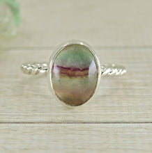 Load image into Gallery viewer, Purple & Green Fluorite Ring - Size 4 1/4 - Gem & Tonik