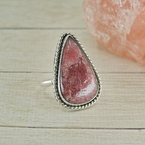 Rhodonite Ring - Size 7 1/2 - Sterling Silver - Gem & Tonik