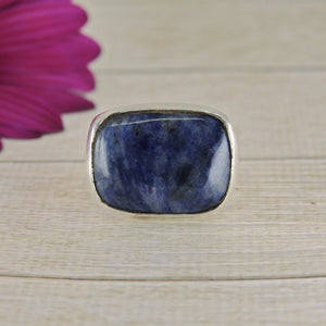 Rectangular Sodalite Ring - Size 9 1/2 - Gem & Tonik