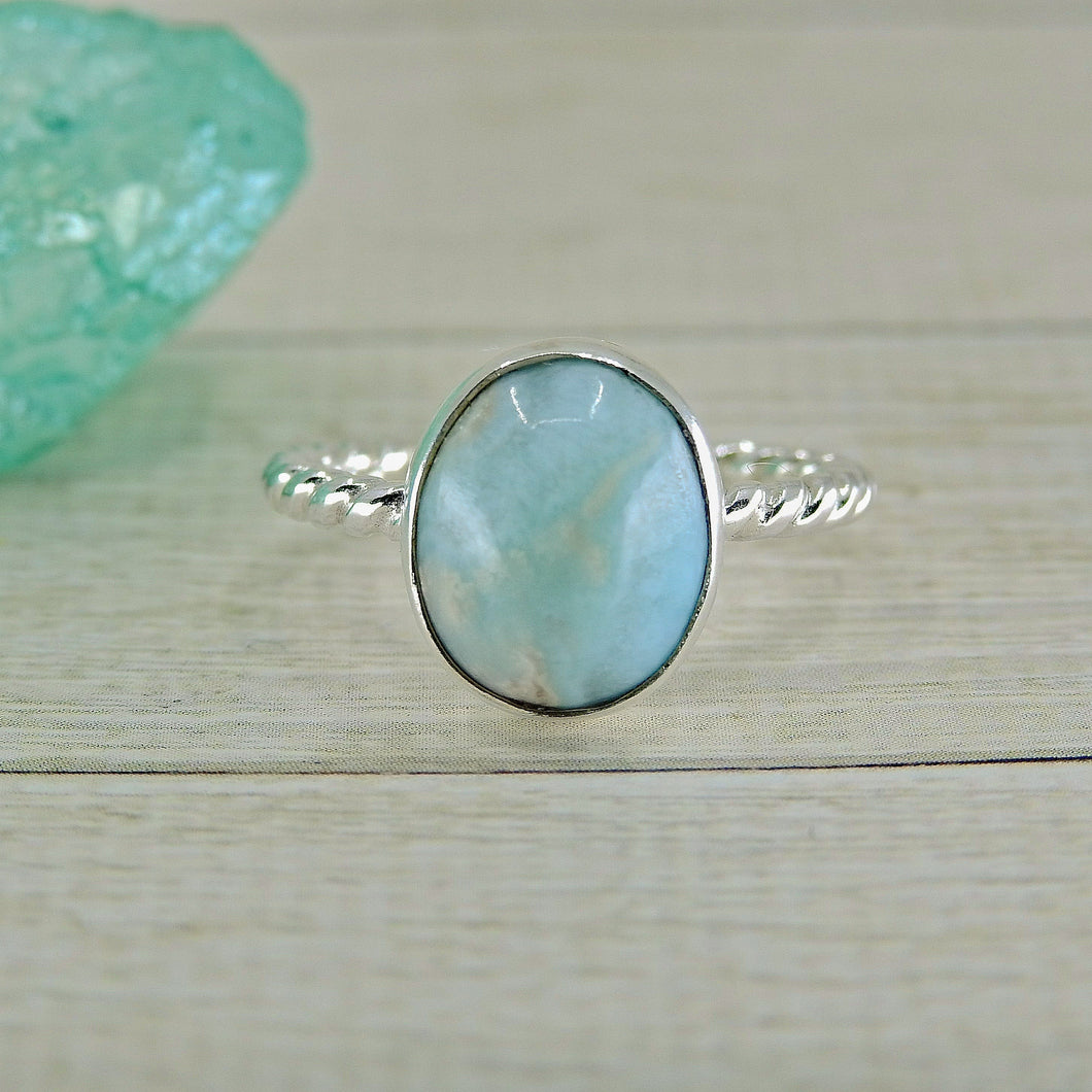 Larimar Ring - Size 5 1/2 - Gem & Tonik