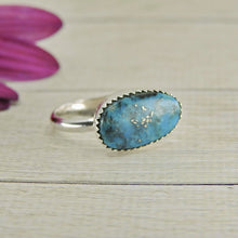 Load image into Gallery viewer, Morenci Turquoise Ring - Size 5 3/4 - Sterling Silver - Gem & Tonik