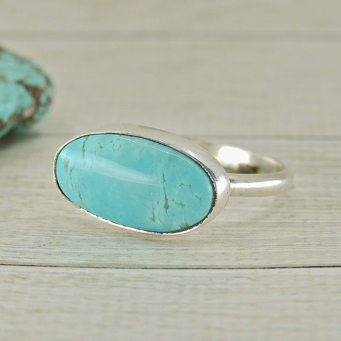 Tyrone Turquoise Ring - Size 11 - Sterling Silver - Gem & Tonik