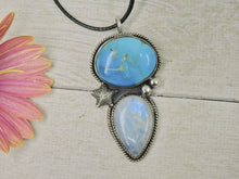 Load image into Gallery viewer, Siren's Call - Morenci Turquoise & Moonstone Pendant - Gem & Tonik