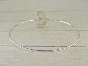 Crescent Moon Moonstone Bangle - Size Medium - Gem & Tonik