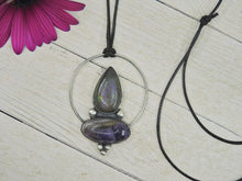 Load image into Gallery viewer, Amethyst & Purple Labradorite Pendant - Sterling Silver - Gem & Tonik
