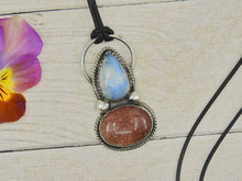 Load image into Gallery viewer, Sunstone & Moonstone Pendant - Sterling Silver - Gem & Tonik