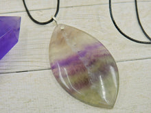 Load image into Gallery viewer, Marquise Fluorite Pendant - Sterling Silver - Gem & Tonik