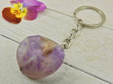 Load image into Gallery viewer, Amethyst Keyring - Sterling Silver & Stainless Steel - Gem & Tonik