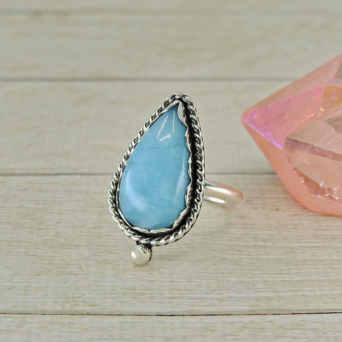 Smithsonite Ring - Size 7.25 - Sterling Silver - Gem & Tonik