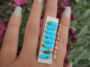 Your Custom Hubei Turquoise Stacker Ring - Made to Order - Gem & Tonik