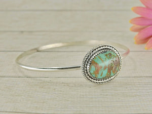Royston Turquoise Bangle - Sterling Silver - Size M - Gem & Tonik