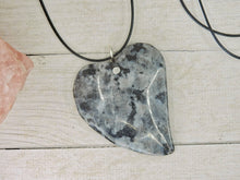Load image into Gallery viewer, Larvikite Heart Pendant - Sterling Silver - Gem & Tonik