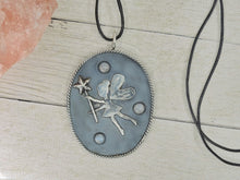 Load image into Gallery viewer, Fae Amongst the Stars - Fairy Moonstone Pendant - Sterling Silver - Gem & Tonik