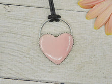 Load image into Gallery viewer, Pink Opal Heart Pendant - Sterling Silver - Gem & Tonik