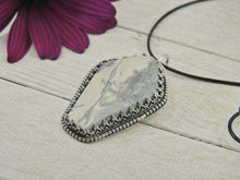 Load image into Gallery viewer, Howlite Coffin Pendant - Sterling Silver - Gem & Tonik