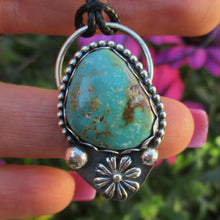 Load image into Gallery viewer, Royston Turquoise Flower Pendant - Sterling Silver - Gem & Tonik