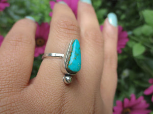 Compass Turquoise Ring - Size 6 1/2 - Sterling Silver - Gem & Tonik