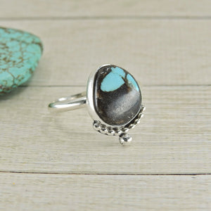 Kingman Turquoise Ring - Size 10 - Sterling Silver - Gem & Tonik