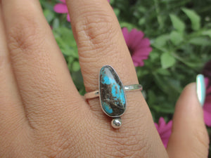 Kingman Turquoise Ring - Size 11 1/2 - Sterling Silver - Gem & Tonik